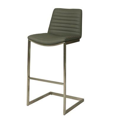 Jalen 25.5 Bar Stool Upholstery: Gray