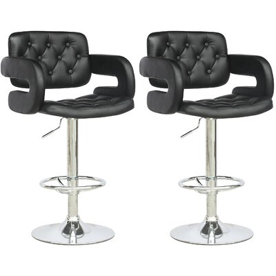 David Adjustable Height Swivel Bar Stool