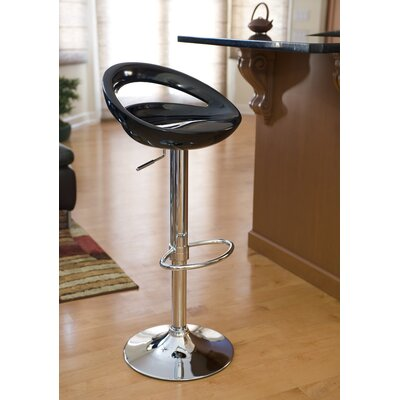 Cedar Park Adjustable Height Bar Stool Upholstery: Black