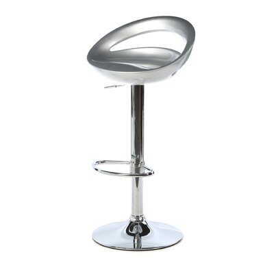 Cedar Park Adjustable Height Bar Stool Upholstery: Silver