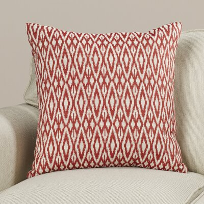 Garner Cotton Throw Pillow Color: Hot Pepper, Size: 18x18