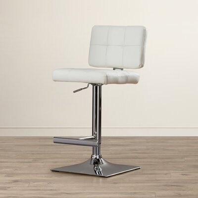 Whitehead Swivel Bar Stool Upholstery: White