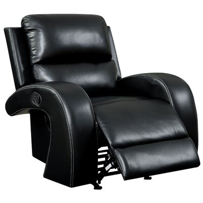 Aries Manual Lift Assist Recliner Upholstery: Black