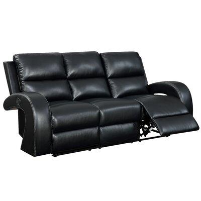 Willard Reclining Sofa Upholstery: Black