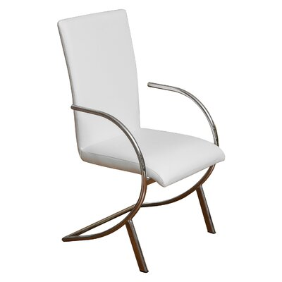 Arm Chair Upholstery: White / Grey
