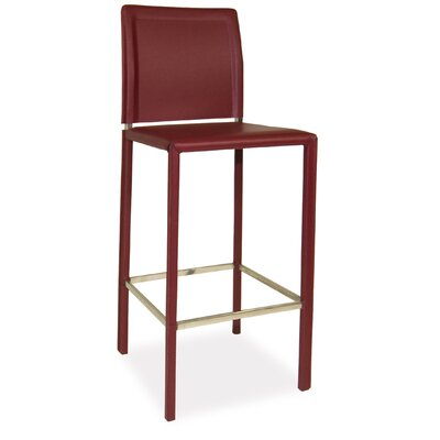 Icenhour 29 Bar Stool Finish: Dark Red