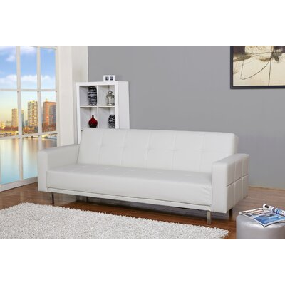 Bruhn Sleeper Sofa Upholstery: White