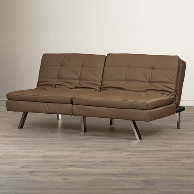 Devonte Foldable Convertible Sofa Color: Taupe