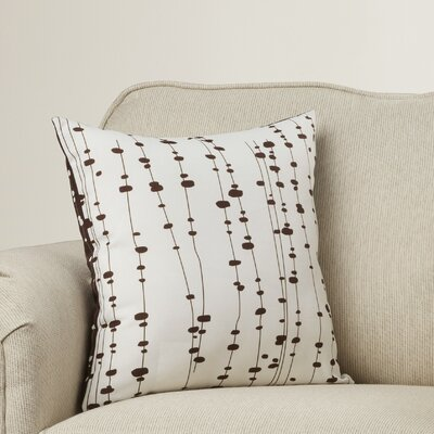 Hames Linen Throw Pillow Size: 18 x 18, Color: Chocolate