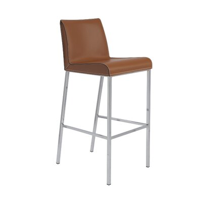 Morita 30.5 Bar Stool with Cushion Upholstery: Cognac