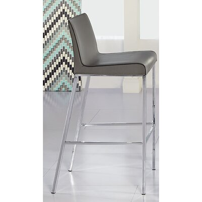 Morita 30.5 Bar Stool with Cushion Upholstery: Gray