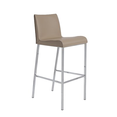 Cristobal 24 Bar Stool Upholstery: Tan