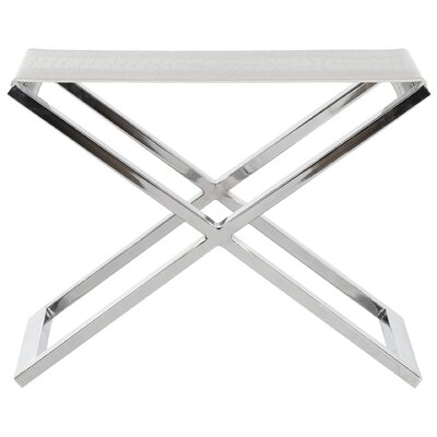 Ayaan End Table Finish: White