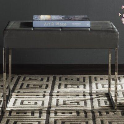 Axel Ottoman Upholstery: Gray