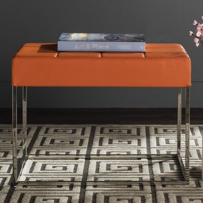 Axel Ottoman Upholstery: Orange
