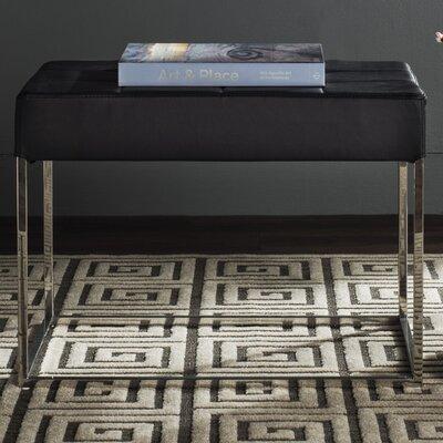 Axel Ottoman Upholstery: Black
