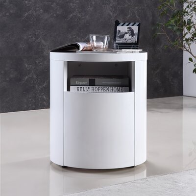 Armando End Table Finish: White