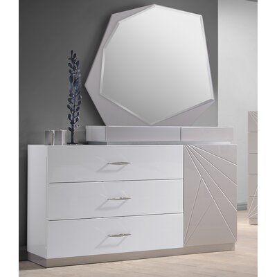 Ernesto 3 Drawer Dresser with Mirror