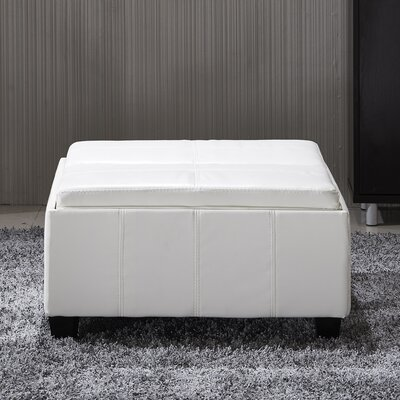 Cline Leather Storage Ottoman Upholstery: Creamy White