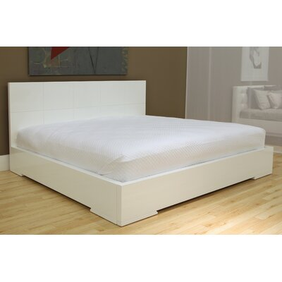 Salia Panel Bed Size: King, Color: High Gloss White