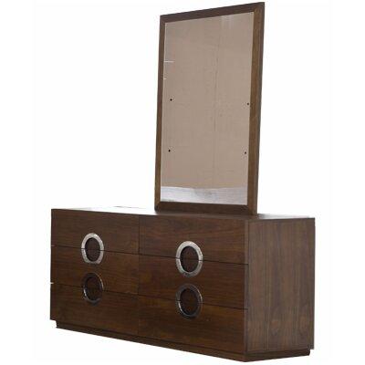 Salia 6 Drawer Dresser with Mirror