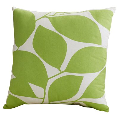 Cluff Square Cotton Throw Pillow Size: 18 H x 18 W x 4 D, Color: Lime / Light Gray
