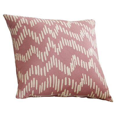 Ochoa 100% Cotton Throw Pillow Size: 20 H x 20 W x 4 D, Color: Salmon / Beige