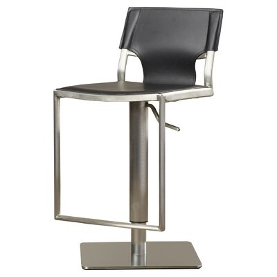 Rockey Adjustable Height Bar Stool Upholstery: Black