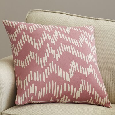 Ochoa 100% Cotton Throw Pillow Size: 20 H x 20 W x 4 D, Color: Salmon / Beige