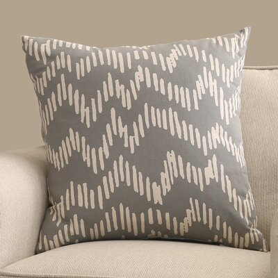 Ochoa 100% Cotton Throw Pillow Size: 18 H x 18 W x 4 D, Color: Slate / Beige