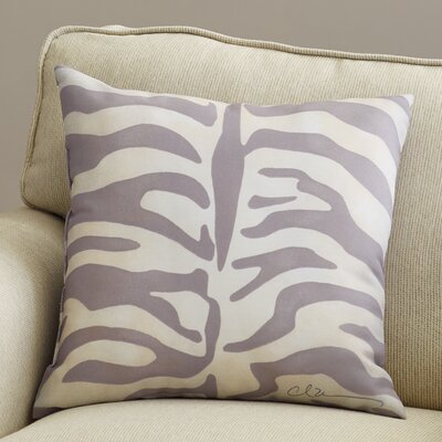 Pylle Hill Zebra Throw Pillow Size: 20 H x 18 W, Color: Gray