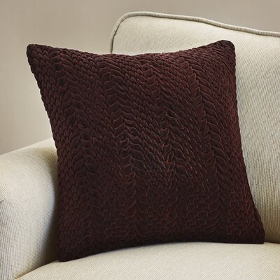 Stoney Littleton 100% Cotton Throw Pillow Size: 18 H x 18 W, Color: Aubergine, Filler: Down