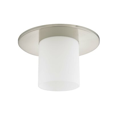11 Frosted Glass Drum Lamp Shade Finish: Satin Nickel