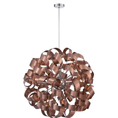 Jaelyn 12-Light Geometric Pendant Finish: Satin Copper