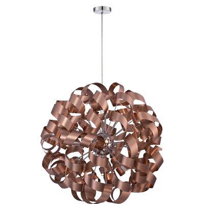 Sherrill 12-Light Geometric Pendant Finish: Satin Copper