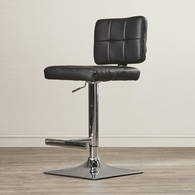 Whitehead Swivel Bar Stool Upholstery: Black