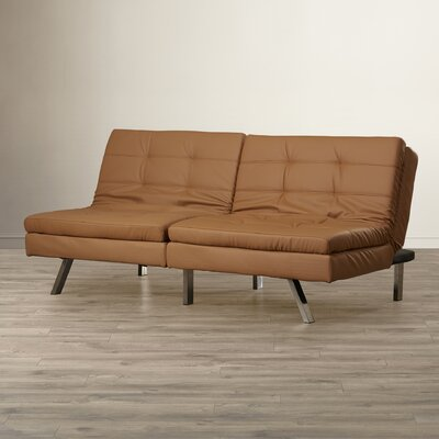 Devonte Foldable Convertible Sofa Color: Camel