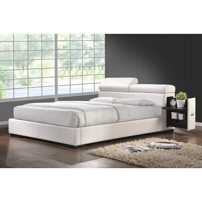 Upholstered Storage Platform Bed Size: California King