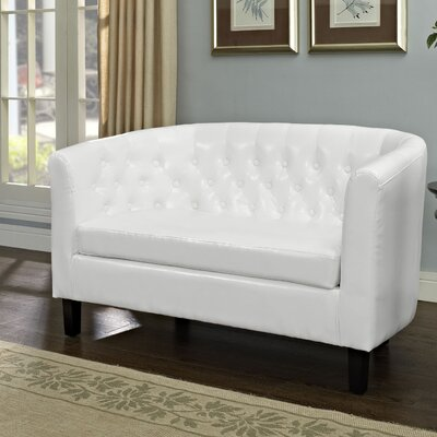 Grady 2 Seater Loveseat Upholstery: White