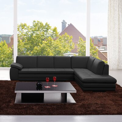 Jerald Sectional Upholstery: Black, Orientation: Left Hand Facing