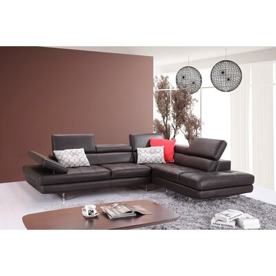Hugo Modular Sectional Orientation: Right Hand Facing, Upholstery: Coffee