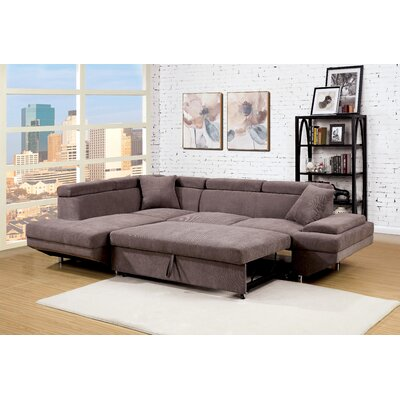 Sylvester Sleeper Sectional Upholstery: Brown
