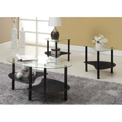 Clint Coffee Table Set Finish: Black