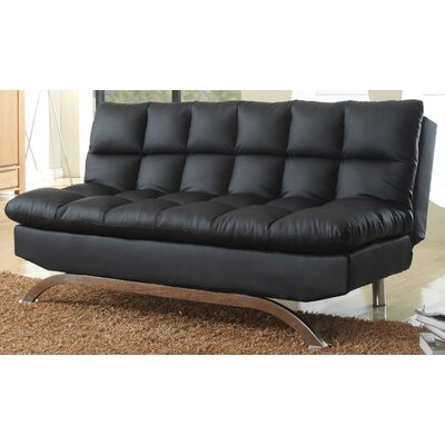 Leland Convertible Sofa Color: Black