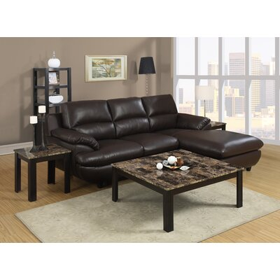 Willington 3 Piece Coffee Table Set Finish: Cappuccino / Brown