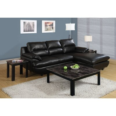 Willington 3 Piece Coffee Table Set Color: Black / Grey