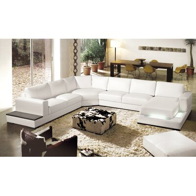 Brookman Sectional Upholstery: White