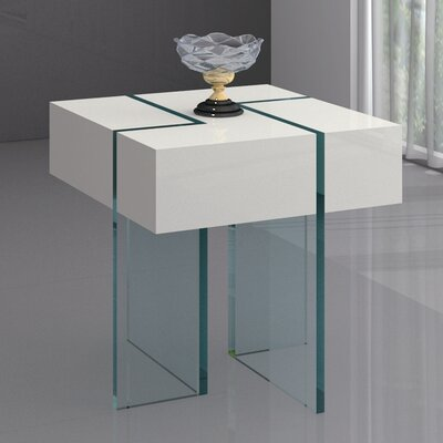 Berndt End Table Color: White