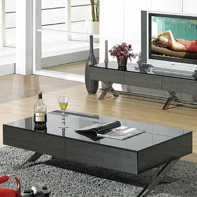 Garry Coffee Table Base Finish: Gray