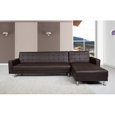 Spirit Lake Sleeper Sectional Upholstery: Dark Brown
